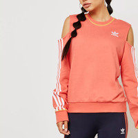 ADIDAS ORIGINALS 3 Stripe Cut Out Sweatshirt