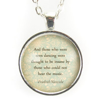 Motivational Nietzsche Quote Necklace