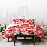 Garima Dhawan Dogwood Red Duvet Cover