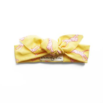 Electric Tiger Organic Stretch Knit Head Tie For Babies