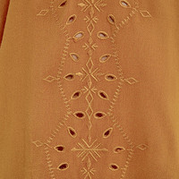 Contemporary Fairytale Burnt Orange Embroidered Top