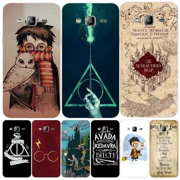 Marauders Map Harry Potter DEATHLY HALLOW QOUTES cover phone case for Samsung Galaxy J1 J2 J3 J5 J7 MINI ACE 2016 2015