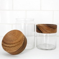 Merchant no. 4 - Wood Glass Canisters - Gift