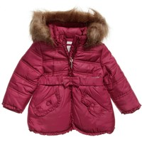 Babys Padded Coat With Faux-fur Trim
