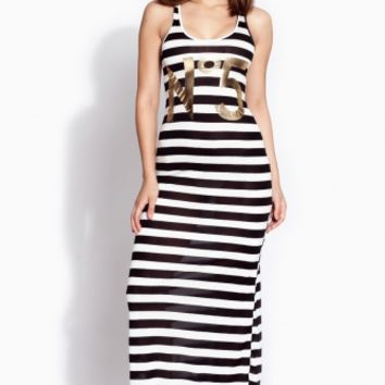 Horizontal Striped No 5 Maxi Dress @ Cicihot sexy dresses,sexy dress,prom dress,summer dress,spring dress,prom gowns,teens dresses,sexy party wear,ball dresses