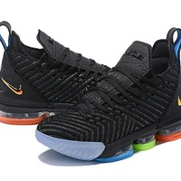 Nike Mens Lebron 16 XVI Black/Colorful Sneaker US 8-12