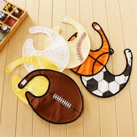 Cool Boys Baby Bibs Basketball Football Golf Print Waterproof Baby Feeding Bibs Burp Clothes Babador Baberos Neonato Bavaglini