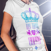 My Mom My Queen t-shirt for women - black and white  - Colorful - Mother's day gift - Crown tshirt - Gift for mom - womens t-shirt