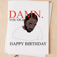 Damn Kendrick Lamar - Happy Birthday Card