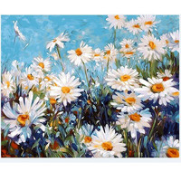 Flower Oil Painting By Numbers Paint On Canvas Sale Draw Pictures Painting Coloring By Numbers On The Wall Art Decor For Home