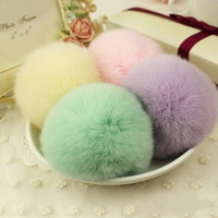 New Fashion Soft Rabbit Fur Ball Handbag Key Chain Cell Phone Car Pendant for Christmas Hollween = 1932740740