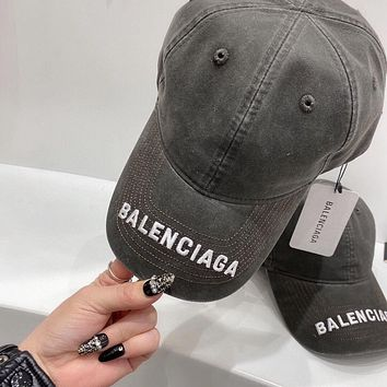 Balenciaga canvas baseball hat