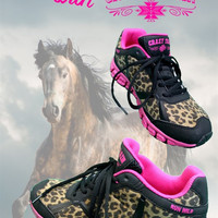 Run Wild Leopard and Pink Tennis Shoes
