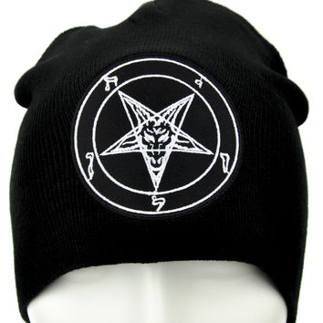 Sabbatic Baphomet Goat Head Beanie Occult Clothing Knit Cap …
