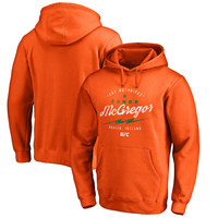 Men's Conor McGregor Orange UFC Bolt Pullover Hoodie