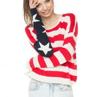 Brandy ♥ Melville |  Cassidy American Flag Sweater