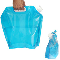Portable Camping Hiking 5L Folding Water Storage Lifting Bag Survival Outdoor Accessories Travel Kits Equipments EA14