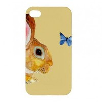 Bunny and the Butterfly iPhone and iPod Touch Cell Phone Case Range by HeavenlyCreaturesArt
