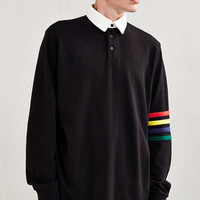 Lazy Oaf Arm Stripe Rugby Shirt - Urban Outfitters
