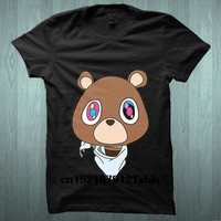 Men T shirt Hipster Vogue Kanye West Kanye Bear Cartoon s Tshirt funny t-shirt novelty tshirt women