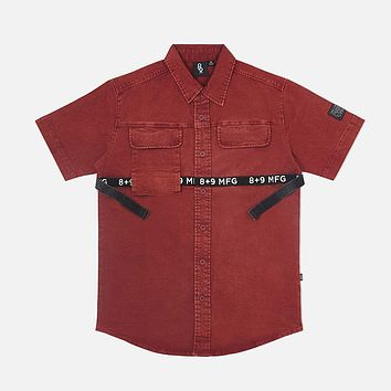 Strapped Up Vintage Button Up Shirt Rust