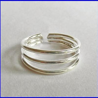 AMAZING ADJUSTABLE 925 STERLING SILVER TOE RING