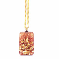Crushed Gold Pendant Necklace from Artystik Ego