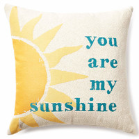 """""""You Are My Sunshine"""" Throw Pillow, (20"""" x 20"""") 