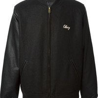 Obey embroidered logo bomber jacket