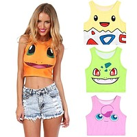 Trendy Women Pokemon Sleeveless Tank Top Vest