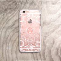 Moon iPhone 6s Case Clear iPhone 6S Plus Case Zodiac iPhone Moon Stars Sun iPhone Case Moon iPhone Case 1990's iPhone Case Gifts for Teens