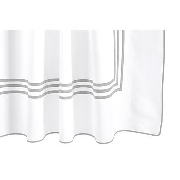 Newport Silver Shower Curtain by Matouk