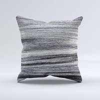 Strands of Dark Colored Hair ink-Fuzed Decorative Throw Pillow