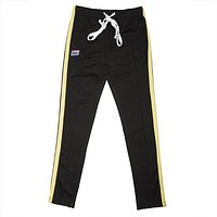 Contrast Color Side Tape Track Pants