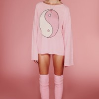 YING YANG PENNY LANE SWEATER at Wildfox Couture in  MALL FOUNTAIN, BEL AIR PINK