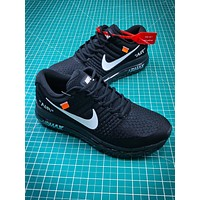 Off White X Nike Air Max 2017 30th Black White Sport Running Shoes
