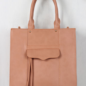 Structured Boxy Vegan Leather Tote Bag
