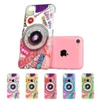 iPhone 5C Case, ESR Fancy Series Hard Clear Back Cover with Cute Patterns Snap on Case for iPhone 5c Case Upgraded Version with Better Protection iPhone 5C Case (Camera)