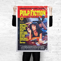 Pulp Fiction movie poster A3 / A2 / A1 printed on paper or canvas