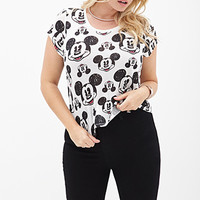 FOREVER 21 PLUS Mickey Mouse Tee Cream/Black