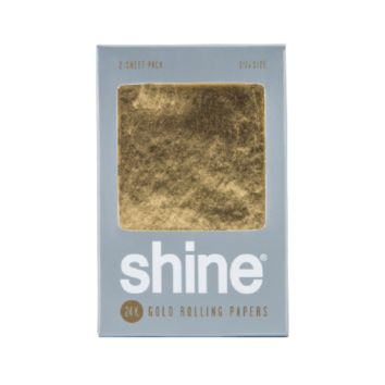 SHINE 24K GOLD ROLLING PAPERS - 1 1/4""