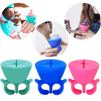New Arrival Hot Soft Silicone Finger Wearable Nail Polish Bottle Holder Creative Nail Beauty Tool Stand For Manicure Tools