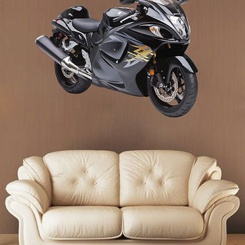 kcik72 Full Color Wall decal sport motorcycle powerful speed bedroom living room for teens
