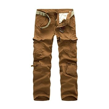 MISNIKI Hot Tactical Pants Men Cotton Military Casual Cargo Mens Pants Pantalon Homme