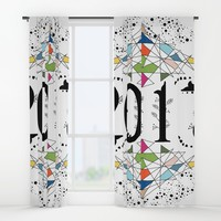 Hello 2017 Window Curtains by famenxt