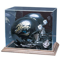 Tampa Bay Buccaneers NFL Full Size Football Helmet Display Case (Wood Base)