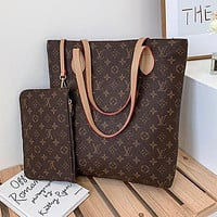 Louis Vuitton LV Classic Presbyopia Canvas Shoulder Bag Handbag Two-Piece Set