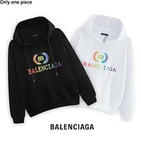 Balenciaga selling a new colorful embroidery logo with pure cotton loop hoodies