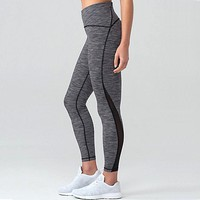 Lululemon Solid Color Gauze Gym Sports Yoga Running Leggings Pants Trousers Sweatpants