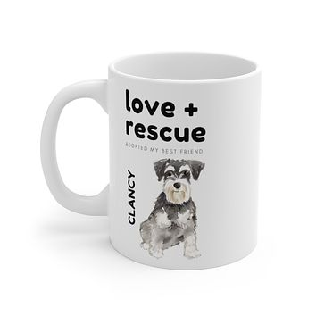 love + rescue Mug — Miniature Schnuazer